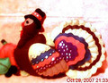 handmade felt turkey