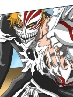 anime bleach wallpaper probably containing anime called ichigo vizard