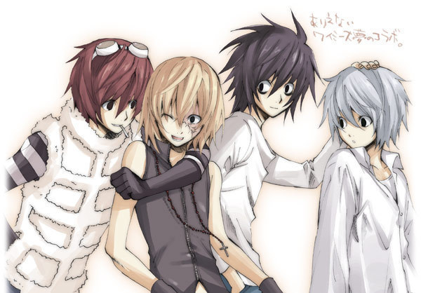 matt,mello,near.L - Death Note 600x418