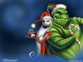 oogie and jack - nightmare-before-christmas wallpaper