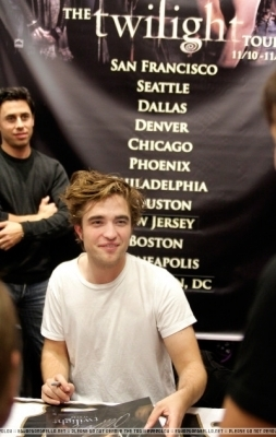 robert at signing in Philadelphia