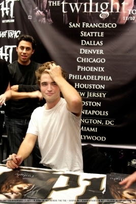 robert at signing in Philadelphia