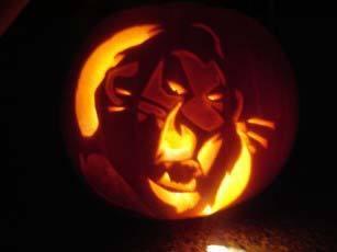 Lion King Pumpkin The Lion King scar pumpkin