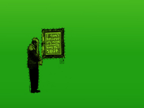 you morons - banksy Wallpaper