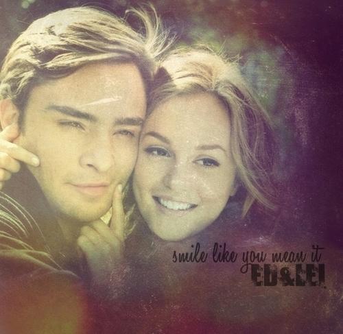 Blair & Chuck wallpaper containing a portrait called ~CHUCK & BLAIR~ TRUE LOVE ALWAYS& 4EVER!