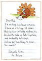 A turkey's letter to god