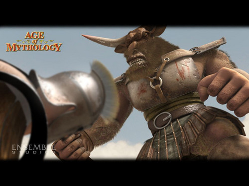 Greek Mythology wallpaper probably containing a lippizan titled Age of Mythology - Minotaur