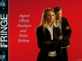 fringe - Agent Olivia Dunham and Peter Bishop wallpaper