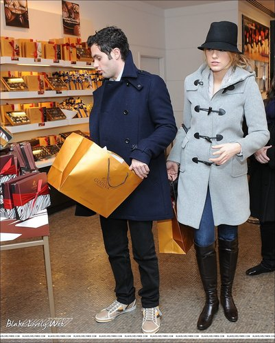 Blake & Penn (shopping at Godiva)