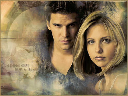 Bangel wallpaper containing a portrait called Buffy & Angel