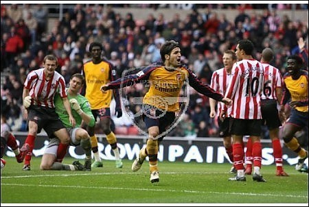 Cesc vs Sunderland