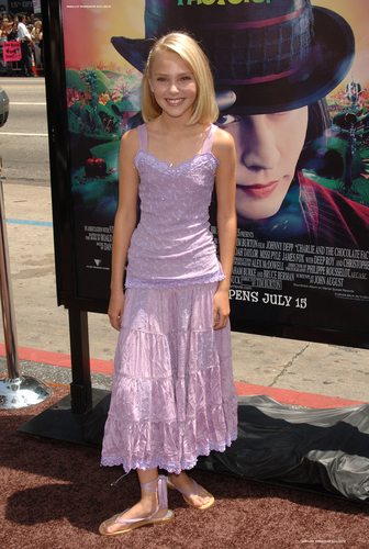 AnnaSophia Robb wallpaper probably with a cocktail dress, a frock, and a dress called Charlie LA Premier 2005
