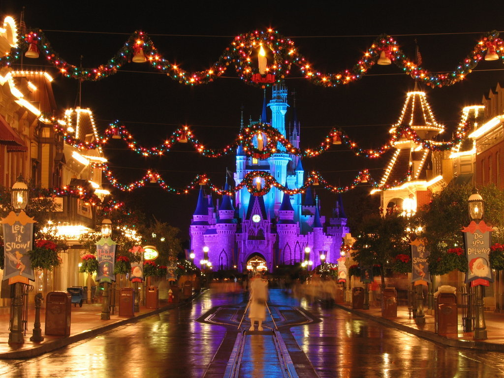 christmas images christmas at disney world hd wallpaper and background photos - Christmas In Disney