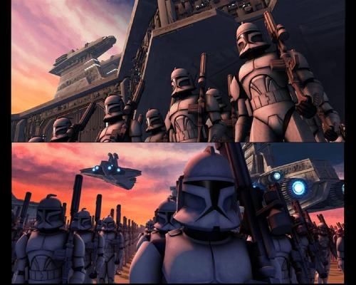 étoile, étoile, star Wars: Clone Wars fond d'écran possibly with animé entitled Clone Wars