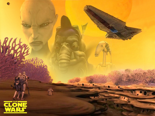 ster Wars: Clone Wars achtergrond possibly with a fontein titled Clone Wars