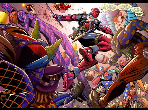 Deadpool kills some clowns