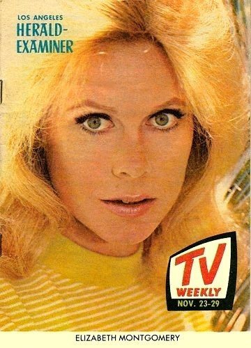 Elizabeth Montgomery wallpaper with a portrait called Elizabeth TV Guide Cover