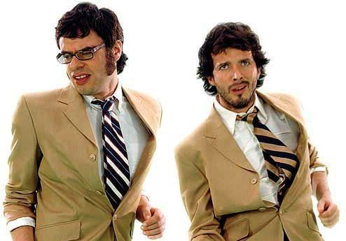 Flight of the Conchords karatasi la kupamba ukuta with a business suit and a suit called Flight of the Conchords