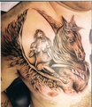 Girl on horse - tattoos photo