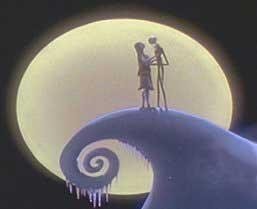 Jack and Sally on हैलोवीन Town's mountain