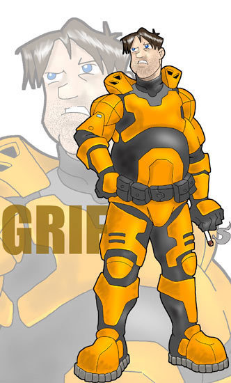 Luke McKay Draws Grif - Red vs. Blue Fan Art (2946856) - Fanpop