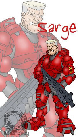 Luke McKay Draws Sarge