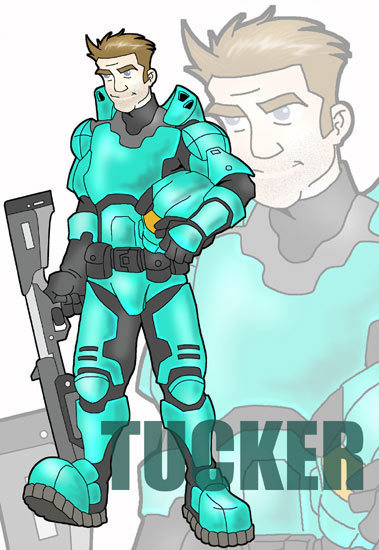 Luke McKay Draws Tucker - Red vs. Blue Fan Art (2946702) - Fanpop
