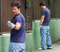 Mark Wahlberg Taking a Leak!