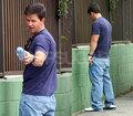 Mark Wahlberg Taking a Leak!
