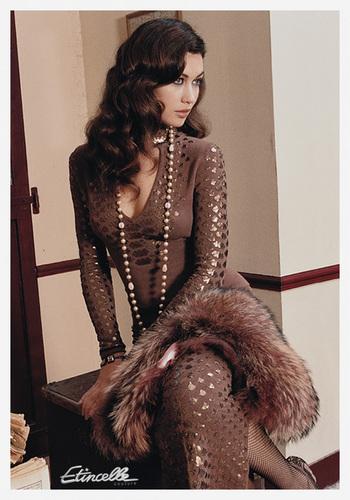 Olga photoshoot for Etincelle