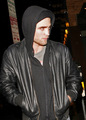Rob Leaves Sushi on Sunset in LA - twilight-series photo