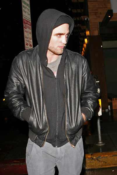 Rob Leaves Sushi on Sunset in LA
