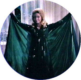 Bewitched wallpaper containing a cloak titled Samantha In Her Flying Suit