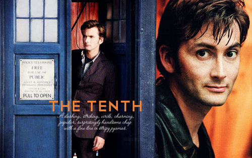 The Tenth Doctor wallpaper possibly containing a telephone booth, a sign, and anime entitled THE Doctor