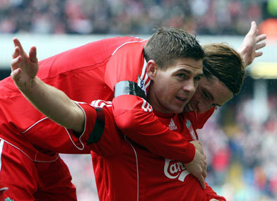 Steven Gerrard And Fernando Torres 바탕화면 entitled Torres And Gerrard