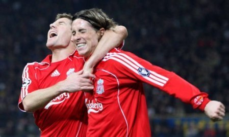 Steven Gerrard And Fernando Torres 바탕화면 called Torres And Gerrard