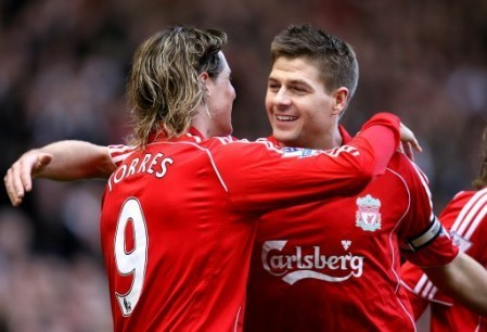 Steven Gerrard And Fernando Torres achtergrond entitled Torres And Gerrard