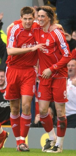 Steven Gerrard And Fernando Torres 바탕화면 titled Torres And Gerrard