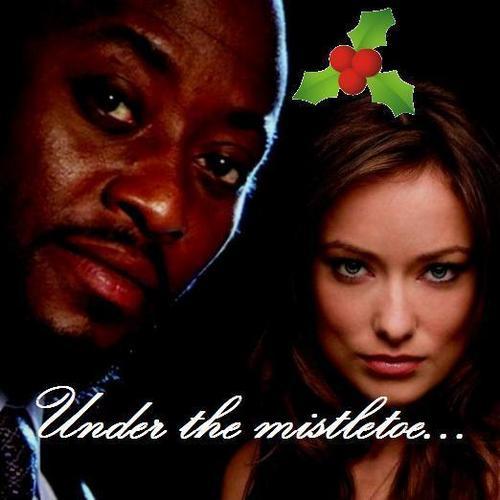 Under the mistletoe...