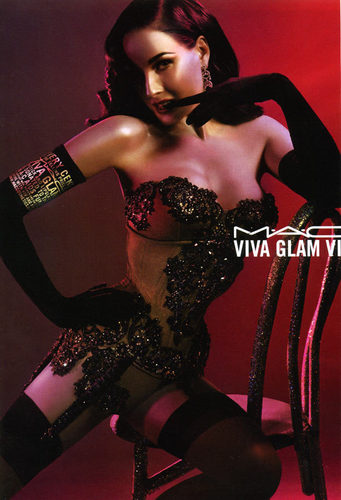 M.A.C. wallpaper possibly with a lingerie and attractiveness called Viva Glam VI - Dita Von Teese