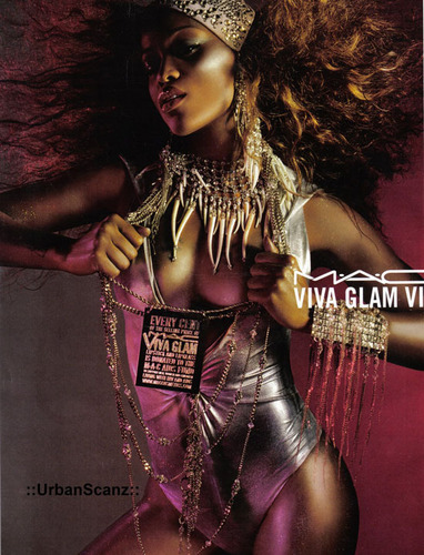 M.A.C. wallpaper probably with a hip boot titled Viva Glam VI - Eve
