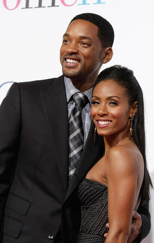 Will and Jada at The Women premiere