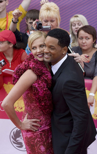 Will with Charlize at the Moscow Film Festival