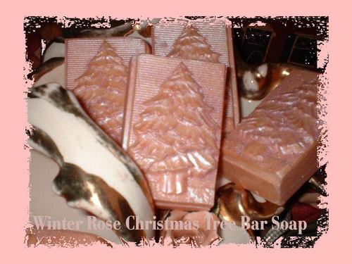 Winter Rose navidad árbol bar Soap