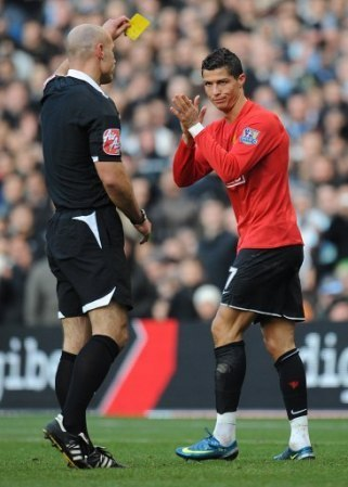 Yellow card v Man City