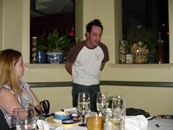 A. J. McLean वॉलपेपर probably containing a रात का खाना table, a bistro, and a चोली, ब्रासेरी titled aj