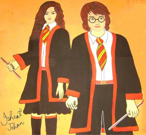 harry y hermione fondo de pantalla titled hermione, harry