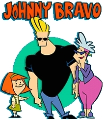 Hanna Barbera karatasi la kupamba ukuta with anime titled johnny bravo
