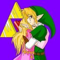 link and zelda l'amour <3