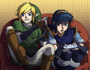 The Legend of Zelda wallpaper probably containing anime titled link vs marth!!!:)